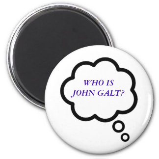 WHO IS JOHN GALT? Thought Cloud 6 Cm Round Magnet