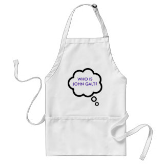 WHO IS JOHN GALT Thought Cloud Aprons