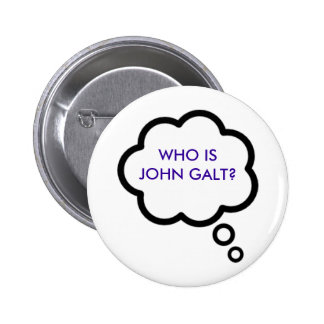 WHO IS JOHN GALT Thought Cloud Pins