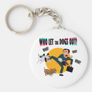 Who let the dogs out! key ring
