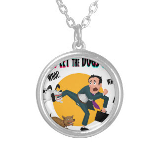 Who let the dogs out! silver plated necklace