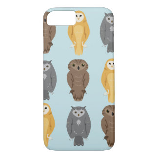 """Who Likes Owls?"" Owl Pattern iPhone 7 Case"