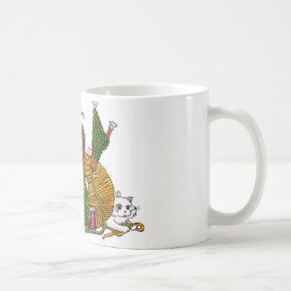 Who loves to knit? basic white mug