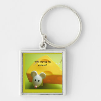 Who moved my cheese? Premium Square Key Ring