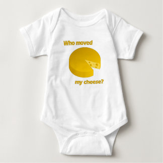 Who moved the cheese baby bodysuit