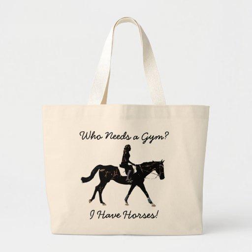 Who Needs a Gym? Fun Horse Tote Bag