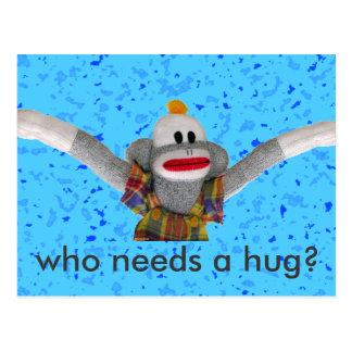 Who Needs a Hug Postcard