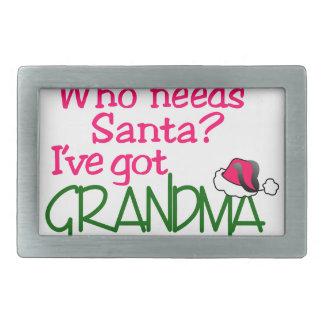 Who Needs Santa Rectangular Belt Buckles