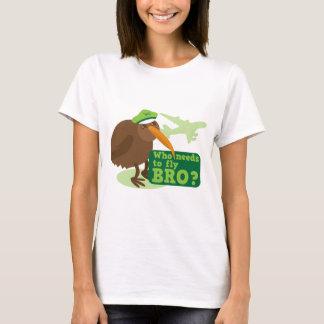 Who needs to fly bro? kiwi bird Humor T-Shirt