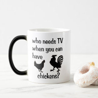 Who needs TV when you can have chickens? morphing Magic Mug