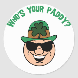 Who s Your Paddy Gift Sticker