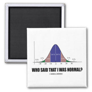 Who Said That I Was Normal? (Stats Humor) Magnet