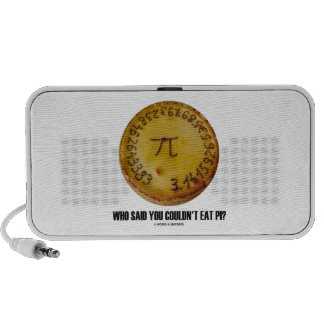 Who Said You Couldn't Eat Pi? (Pi On Pie Humor) Mini Speakers