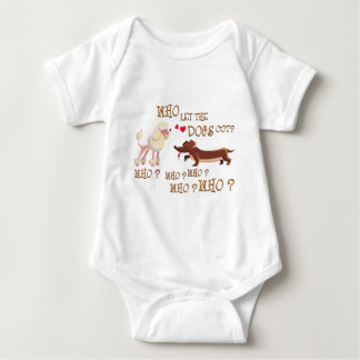 who the let dogs out baby bodysuit