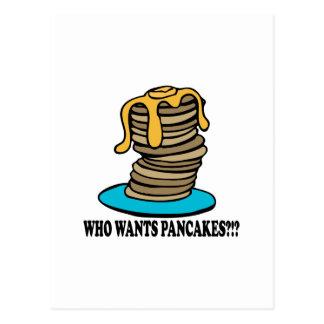 Who Wants Pancakes Postcard