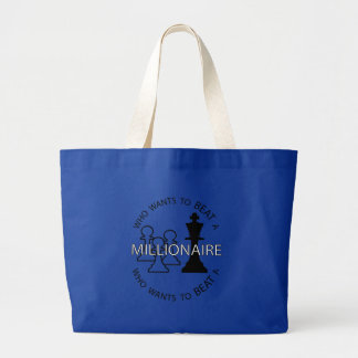 Who wants to beat a millionaire jumbo tote bag
