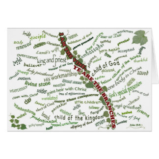 Who We Are in Christ - 85 names God gives to us Greeting Card