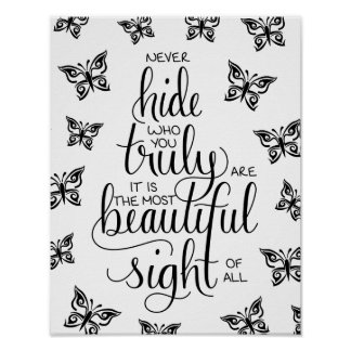 Who You Are Beautiful, Butterflies Poster