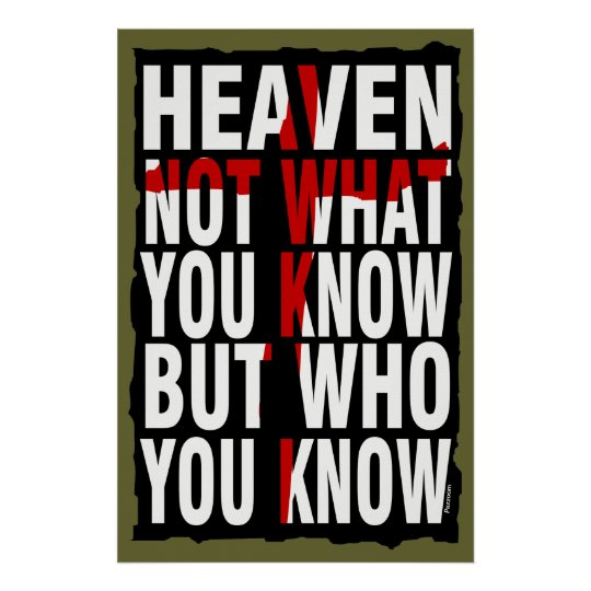 Who You Know Poster