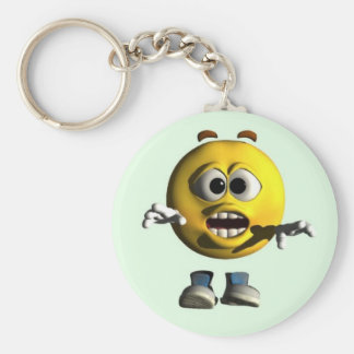 Whoa! Basic Round Button Key Ring