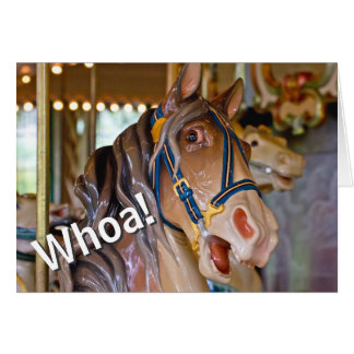Whoa! Look Who's 50 Carousel Horse Happy Birthday Card