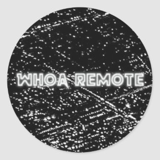 "Whoa Remote ""City Lights"" logo Classic Round Sticker"