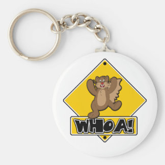 Whoa Squirrel Basic Round Button Key Ring