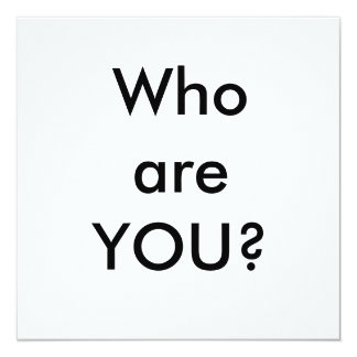 Whoare YOU? Card