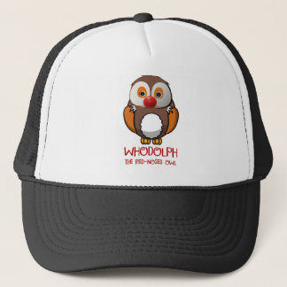 WHODOLPH THE RED-NOSED OWL - CHRISTMAS TRUCKER HAT