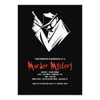 Whodunit Mystery Murder Invitation