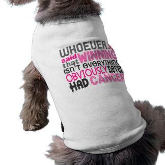Whoever Said Breast Cancer Sleeveless Dog Shirt
