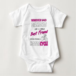 Whoever Said Diamons Are A Girl's Best Friend Gift Baby Bodysuit