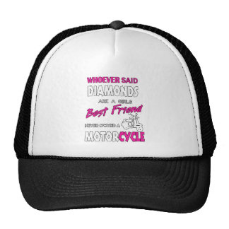 Whoever Said Diamons Are A Girl's Best Friend Gift Cap