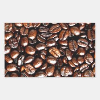 Whole Bean Coffee Pattern Java Lovers Rectangular Sticker