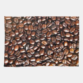 Whole Coffee Beans Pattern Tea Towel