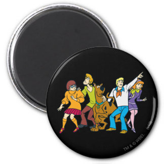 Whole Gang 13 Mystery Inc 6 Cm Round Magnet