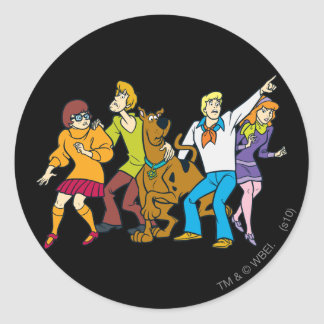 Whole Gang 13 Mystery Inc Classic Round Sticker