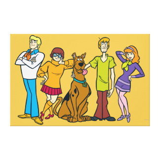 Whole Gang 14 Mystery Inc Canvas Print