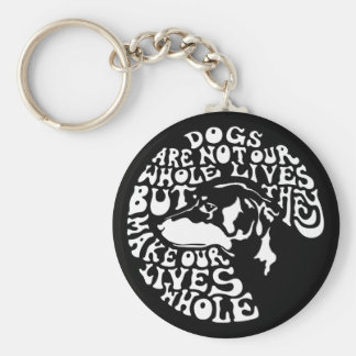 Whole Lives -bw Basic Round Button Key Ring