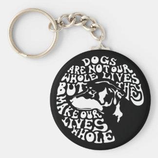 Whole Lives -bw Basic Round Button Key Ring