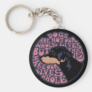 Whole Lives -color Basic Round Button Key Ring