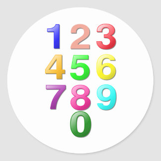 Whole Numbers or Counting Numbers Plus Zero Classic Round Sticker