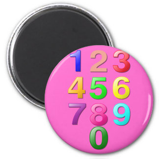 Whole Numbers or Counting numbers to 9 Magnet