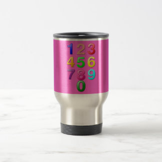 Whole Numbers or Counting numbers to 9 Travel Mug
