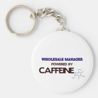 Wholesale Manager Powered by caffeine Basic Round Button Key Ring