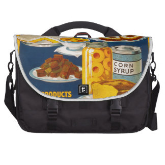 Wholesome - nutritious foods from corn laptop shoulder bag