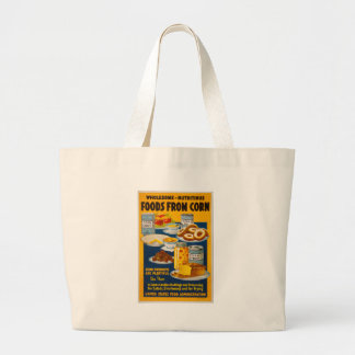 Wholesome - nutritious foods from corn jumbo tote bag