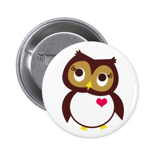 Whoo Loves You 6 Cm Round Badge