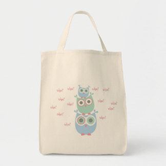 Whoo Loves You Organic Grocery Tote Grocery Tote Bag