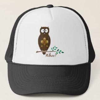 Whoo? Owl Trucker Hat